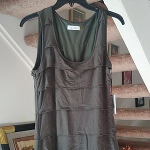 Gray fitted layered designer dress